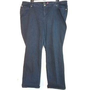 24 Torrid Straight Leg Jean in Blue Rinse